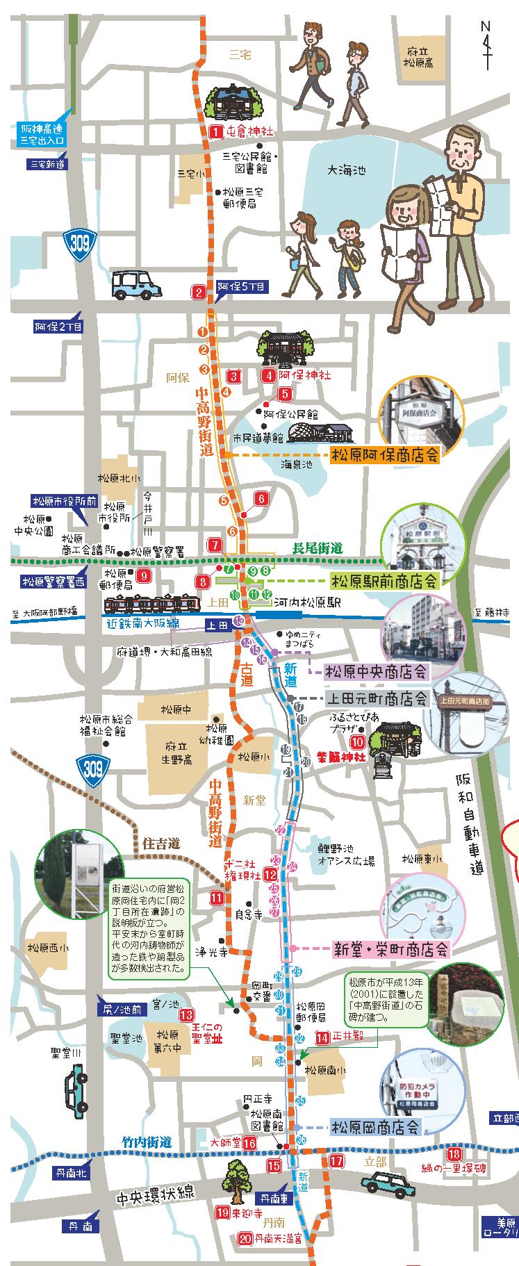 中高野海道と6商店会 見どころ20選